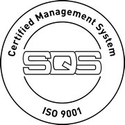 SQS Label ISO 9001:2015 Certified Management System