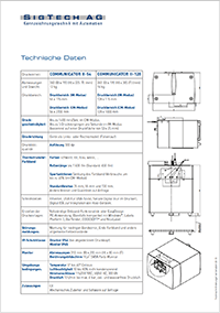 Abbildung: Datenblatt Thermotransfer-Direktdrucker V320i (Communicator II).